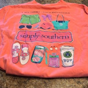 Simply Southern adorable T-shirt like new